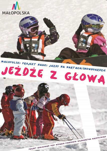 Dzieci na nartach i snowboardzie