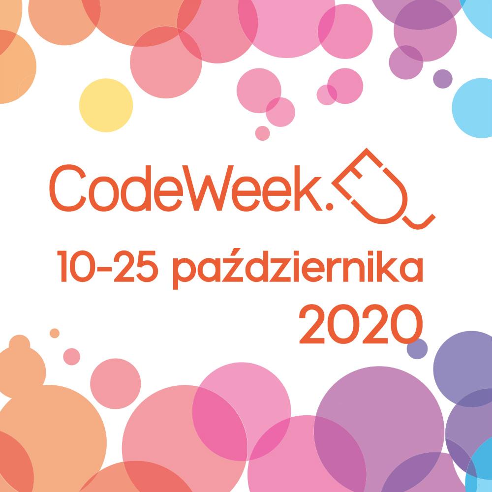 Napis CodeWeek 10-20 października 2020