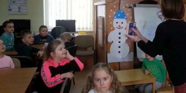 Dzieci Oddziału Zerowego w Bibliotece Publicznej w Rogoźniku